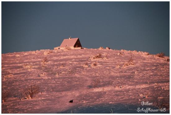 Coucher du soleil sur le sommet du Hohneck