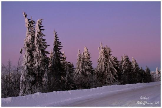 Coucher du soleil le 21.01.2012